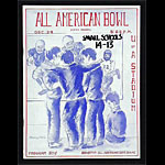 1962 All American Bowl College Football Program