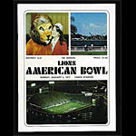 1977 Lions American Bowl College Football Program