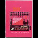 1965 Gator Bowl Florida State vs Oklahoma College Football Program