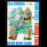 1968 Gator Bowl Penn State vs Florida State College Football Program