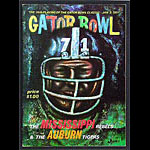 1971 Gator Bowl Mississippi vs Auburn College Football Program