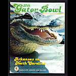 1981 Gator Bowl North Carolina vs Arkansas College Football Program