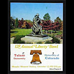 1970 Liberty Bowl Tulane vs Colorado College Football Program
