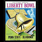 1959 Liberty Bowl Penn State vs Alabama College Football Program
