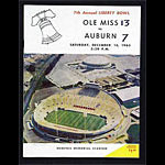1965 Liberty Bowl Mississippi vs Auburn College Football Program