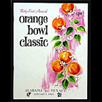 1965 Orange Bowl Alabama vs Texas  College Football Program