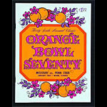 1970 Orange Bowl Missouri vs Penn State College Football Program