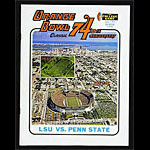 1974 Orange Bowl Program LSU vs Penn State College Football Program