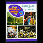 1975 Orange Bowl Notre Dame vs Alabama College Football Program