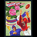 1952 Rose Bowl Illinois vs Stanford College Football Program