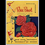 1958 Rose Bowl Program Ohio State vs Oregon College Football Program