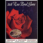 1970 Rose Bowl Michigan vs USC College Football Program