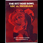 1977 Rose Bowl USC vs Michigan College Football Program