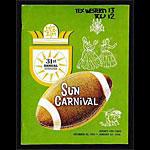 1965-1966 Sun Bowl Texas Western vs TCU College Football Program