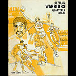 1970 - 1971 Warriors vs Lakers Basketball Program