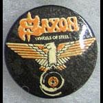 Saxon - Wheels of Steel Button Pin