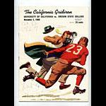 1940 Cal vs Oregon State College Football Program