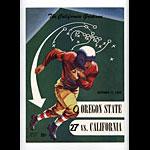 1950 Cal vs Oregon State College Football Program