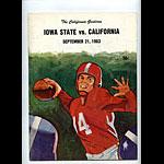 1963 Cal vs Iowa State College Football Program