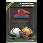 1978 Cal vs Stanford Big Game College Football Program