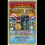 1971 Creedence Clearwater Revival Tour Oakland Concert  Poster