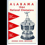 1964 Alabama Orange Bowl - Joe Namath Media Guide