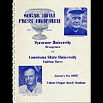 1965 Syracuse vs Louisiana State Sugar Bowl Media Guide