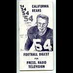 1954 Cal Bears Football Media Guide