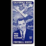 1960 Cal Bears Football Digest Football Media Guide