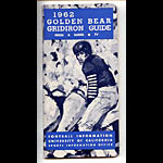 1962 Cal Bears Football Media Guide