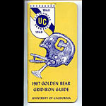 1967 Cal Bears Football Media Guide