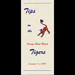 1957 Clemson Orange Bowl Media Guide