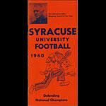 1960 Syracuse Orange Football Media Guide