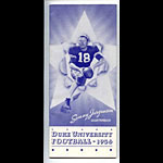 1956 Duke University Football Media Guide