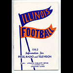 1963 Illinois Football Media Guide