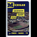 1958 University of Michigan Football Media Guide