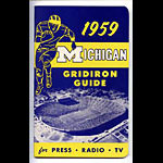 1959 University of Michigan Football Media Guide
