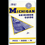 1961 Michigan Football Media Guide