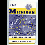1963 University of Michigan Football Media Guide