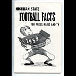1959 Michigan State University Football Media Guide