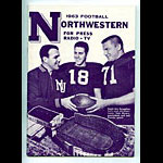1963 Northwestern University Football Media Guide