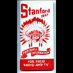 1957 Stanford Football Media Guide