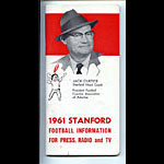 1961 Stanford University Football Media Guide