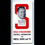 1963 Stanford University Football Media Guide