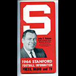 1964 Stanford University Football Media Guide