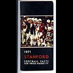 1971 Stanford University Football Media Guide