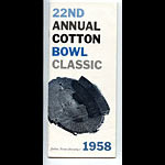 1958 Navy vs Rice Cotton Bowl 22 Football Media Guide