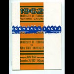 1962 Florida vs Penn State Gator Bowl Football Media Guide