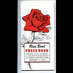 1965 Oregon State vs Michigan Rose Bowl Football Media Guide