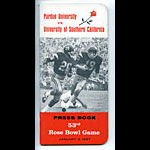 1967 Rose Bowl Purdue vs USC Football Media Guide